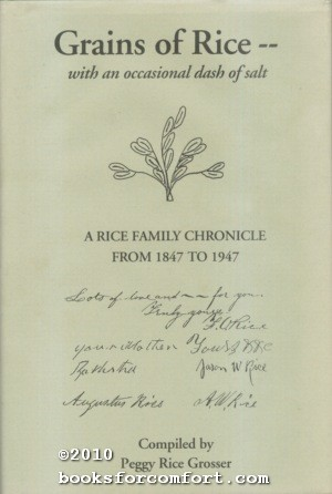 Grains of Rice - - with an occasional dash of salt: Peggy Rice Grosser