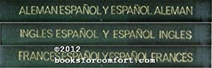 Spanish to English, French & German Dictionaries, 3 Book: Editorial Ramon Sopena SA