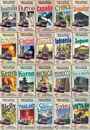Worlds Greatest Train Ride Videos, Set of 20 VHS Tapes: Gail Francoise