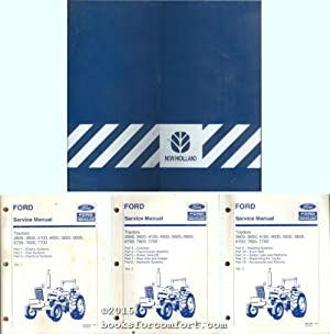 Ford Service Manuals Vols 1, 2 & 3 Tractors 2600, 3600, 4100, 4600, 5600, 6600, 6700, 7600, ...