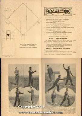 Official Rules Softball 1937: Joint Rules Committee on Softball