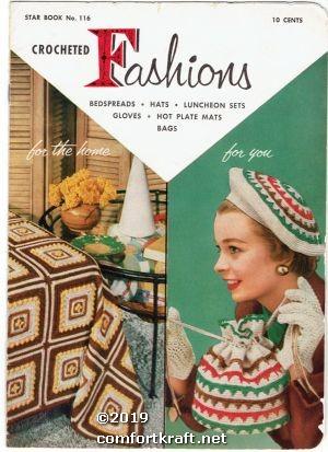 Crochet Fashions Star Book No 116: American Thread Co