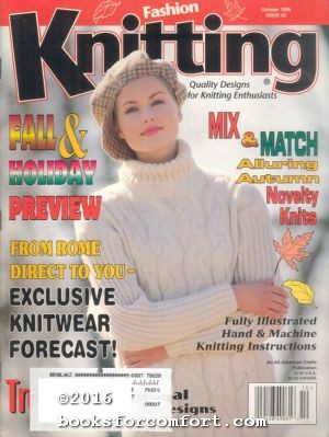 Fashion Knitting No 85 October 1996: Sally V Klein,