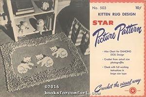 Kitten Rug Design No 53 Star Picture: American Thread Co