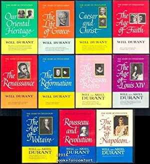 The Story of Civilization, 11 Volume Set: Will & Ariel Durant
