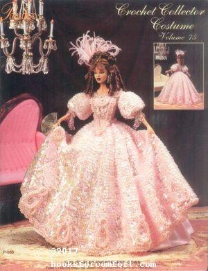 Crochet Collector Costume Volume 75 1830 Jeweled: Sandra Peach
