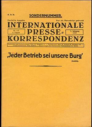 Internationale Pressekorrespondenz. Deutsche Ausgabe. Nur als Manuskript