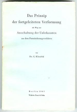 Das Prinzip der fortgeleiteten Verformung als Weg: Kloucek, Celestin.