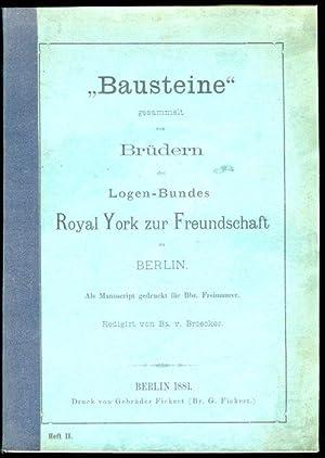 """Bausteine"""" (Jahrgang I) Heft II. Gesammelt von"""