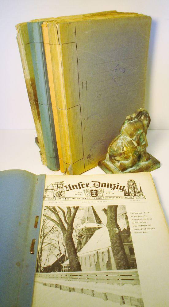 Unser Danzig. Mitteilungsblatt des Bundes der Danziger, 1953 - 1958, Complete 5 Year Run Comprising...