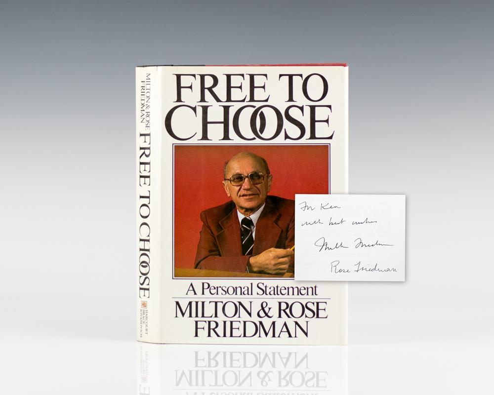 milton friedman signed