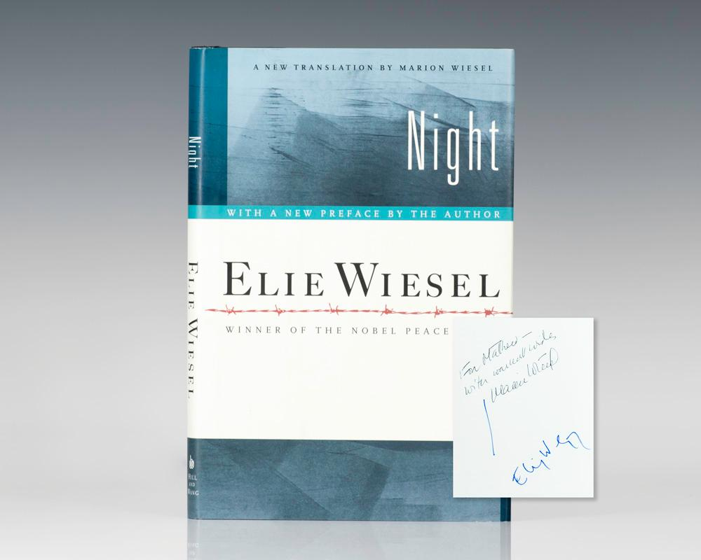 Night. by Wiesel, Elie; Translated by Marion Wiesel: Hill and Wang, New  York Signed by Author(s) - Raptis Rare Books, ABAA/ ILAB