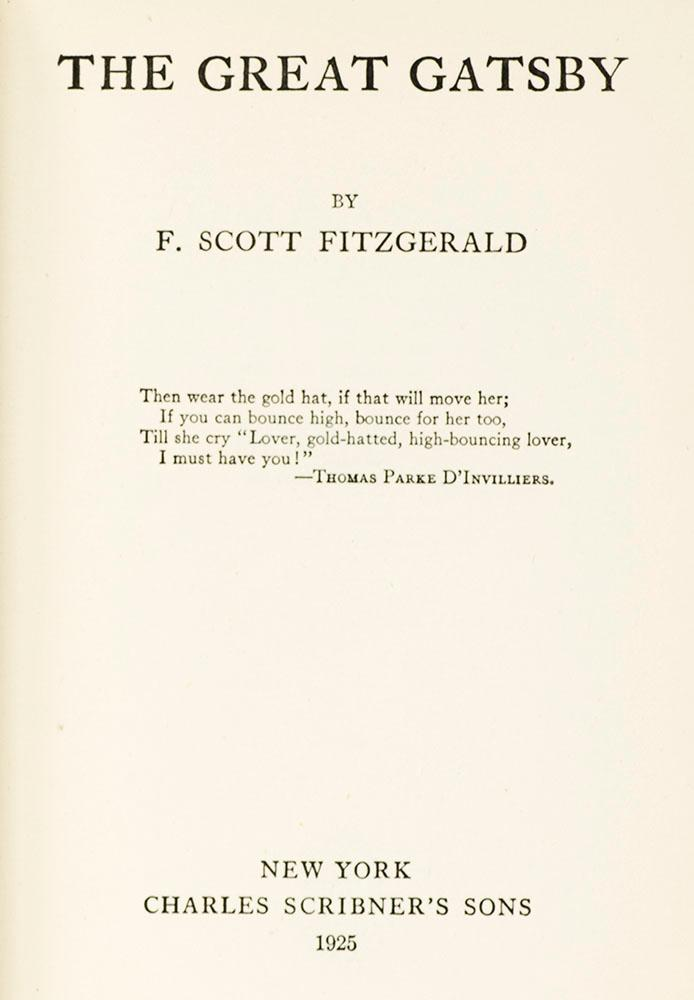 an overview of the great gatsby a novel by f scott fitzgerald The book that i read was the great gatsby by f scott fitzgerald  and chaos  that impacts the lives of all of the characters drastically, but daisy.