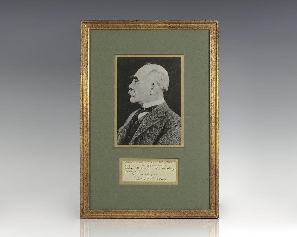 Rudyard Kipling Autograph Note Signed. Kipling, Rudyard [ ] (bi_30183921735) photo