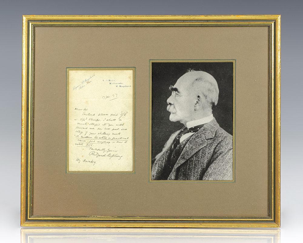 Rudyard Kipling Autograph Letter Signed. Kipling, Rudyard [ ] (bi_30414580563) photo