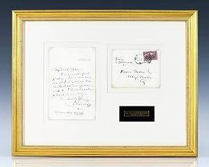 Mark Twain Autographed Letter Signed To Bram: Clemens, Samuel(Mark Twain).