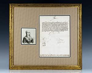 Isabella I, Queen of Spain Signed Document.
