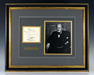 Autograph Album Leaf Signed by Winston S. Churchill.