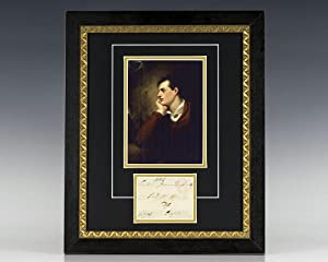 Lord Byron Signed Envelope.: Byron, Lord