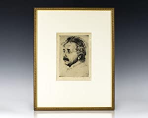 Albert Einstein Signed Etching.: Einstein, Albert; Hermann