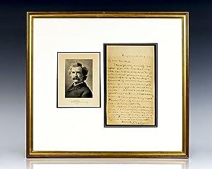 Mark Twain Autographed Letter Signed.: Clemens, Samuel L.