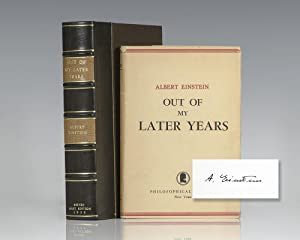 Out of My Later Years.: Einstein, Albert