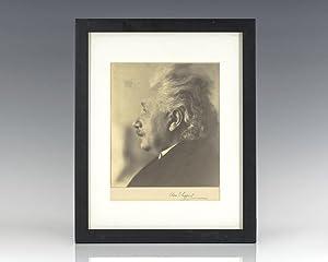 Albert Einstein Signed Clara Estelle Sipprell Photograph.: Einstein, Albert (Clara