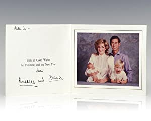 Princess Diana and Prince Charles Signed Christmas Card.