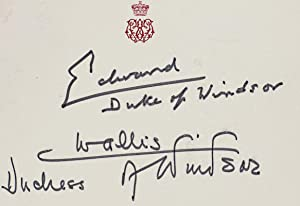 Duke and Duchess of Windsor Autograph Note Signed.