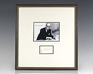 Le Corbusier Autograph Note Signed.