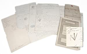 Napoleon Bonaparte Autographed Military Commission and Document Collection.
