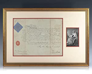 Queen Victoria Naval Appointment Signed.