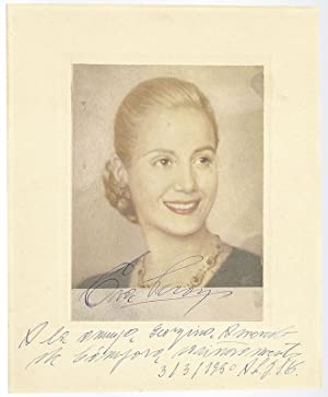 Eva Peron Signed Photograph.