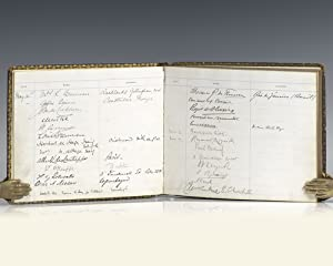 Winston S. Churchill and David Lloyd George Signed Japan-British Exhibition Visitor's Log.
