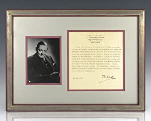 T.S. Eliot Typed Letter Signed.