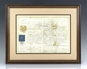 Queen Victoria Appointment Signed.