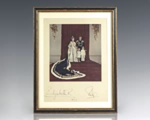 Queen Elizabeth II and Prince Philip Signed Coronation Portrait.