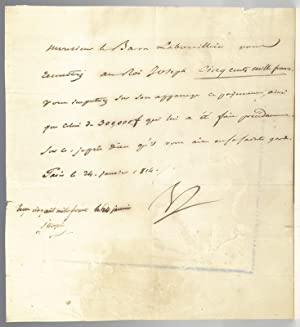 Napoleon Bonaparte and Joseph Bonaparte Signed Document.