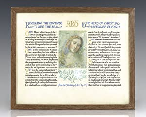 Calligraphic Manuscript on Vellum with a Color Miniature of the Painting by Leonardo Da Vinci.