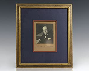 Winston S. Churchill Signed Photograph.