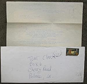Three typescript poems, sent to Tom Clark: Brody (Jim)