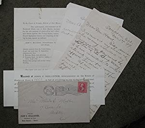 A small group of documents & letters from 1899 relating to French Spoliation: the capture of ...
