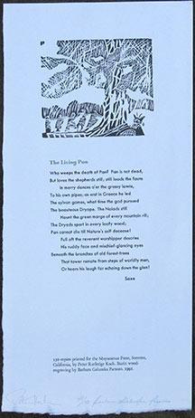 The Living Pan.: Saxe.