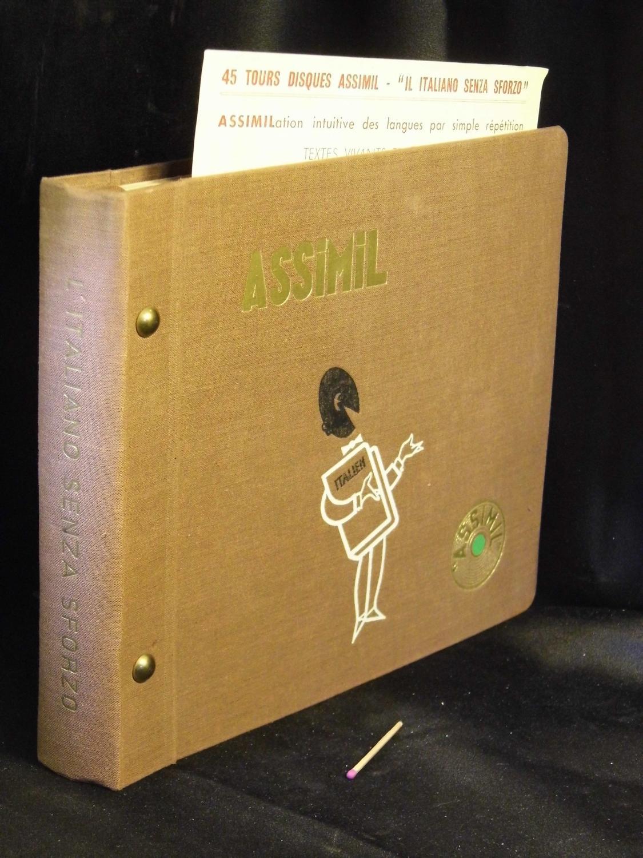 """45 tours disques Assimil - """"il italiano senza sforzo"""" - Assimilation intuitive des langues par simple repetition -"""
