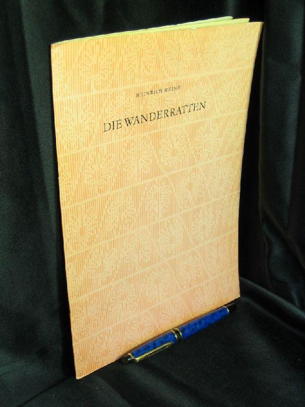 Die Wanderratten - Faksimile -: Heine, Heinrich -