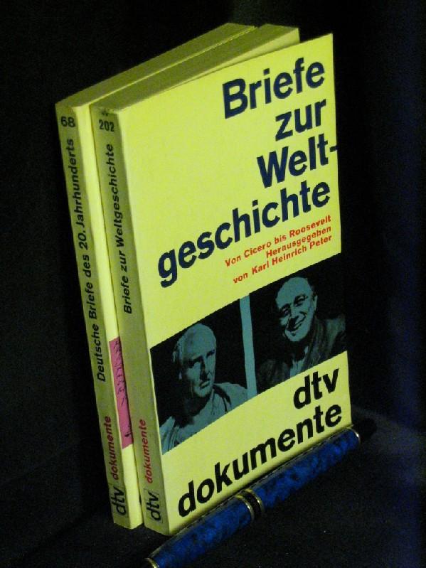 Briefe zur Weltgeschichte. Von Cicero bis Roosevelt + Deutsche Briefe des 20. Jahrhunderts - aus der Reihe: dtv Dokumente - Band: 68+202
