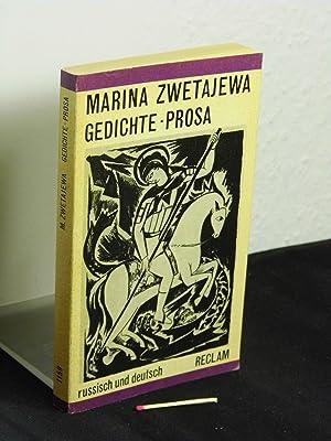 9783379000673 Marina Zwetajewa Gedichte Prosa Abebooks