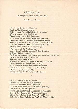 Hermann hesse gedicht klage