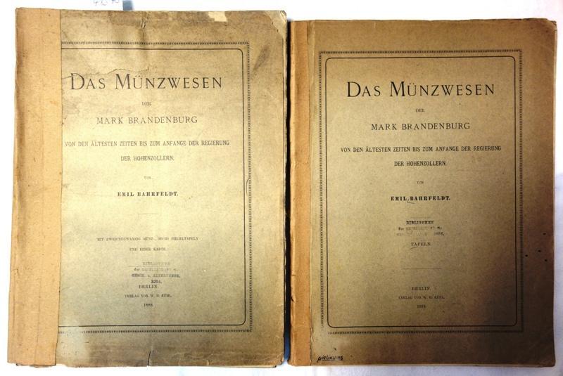Das Münzwesen der Mark Brandenburg von den: Bahrfeldt, Emil: