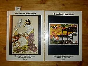 Ostasiatische Holzschnitte I und II. Zwei Bände.